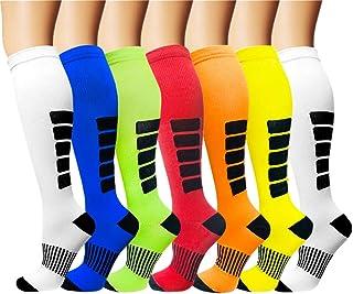 7 Pack Copper Knee High Compression Socks For Men &...