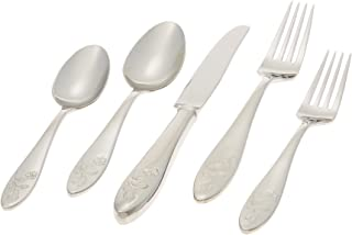 Lenox Butterfly Meadow 5-Piece Stainless Steel Place Setting, Service for 1, Silver - 803604