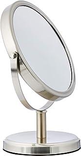 AmazonBasics – Espejo de doble cara para lavabo con mueble de baño estilo moderno Níquel