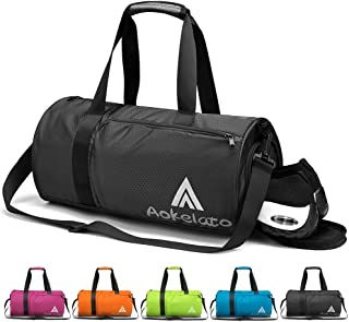 Sports Gym Bag, Travel Duffel bag with Wet Pocket & Shoes Compartment for men women