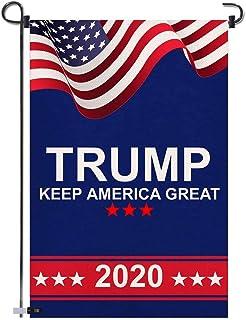 أعلام حديقة دونالد ترامب 2020 - حافظ على أمريكا كبيرة مزدوجة الجانب راية الفناء للحديقة في الهواء الطلق ديكور يوم الانتخاب...