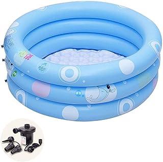 Inflatable Bathtub Multi-Person Swimming Pool Family Ocean Ball Pool Toy Pool Yard Paddling Pool Air Distribution Pump (Co...