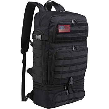 BERTASCHE Military Tactical Backpack, Black Army Assault Pack for Men & Women with 35L Molle Rucksack for Outdoor, Hiking, Camping and Travel