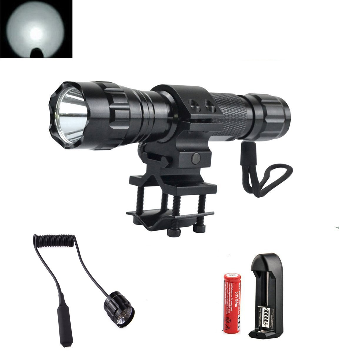 Flashlight Tactical Pressure Rechargeable Emerency