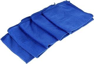 Homyl 5pcs Toalha De Microfibra Absorvente Carro De Bicicleta Casa Limpa Pano De Limpeza Azul