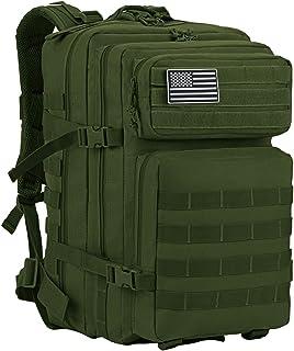 Mochila táctica militar Supersun de 45 litros, verde