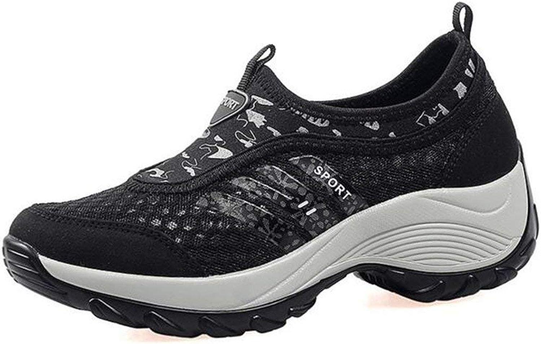 PRETTYHOMEL Women's Slip-On Platform Fitness Work Out Sneaker