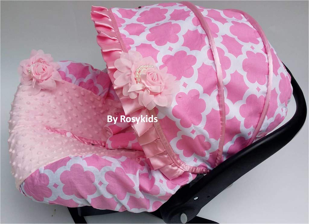 Rosy Kids Infant Carseat Canopy Cover 3 Pc Whole Caboodle Baby Car Seat Cover Kit C031200