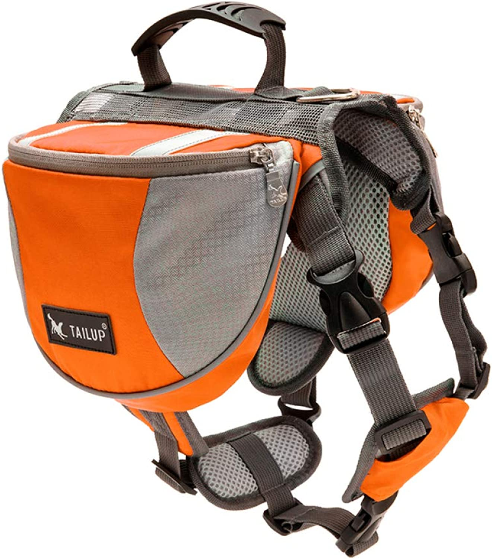 Portable Dog Saddle Bag Adjustable Dog Strap Backpack Trumpet,orange
