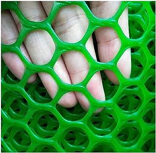 MLM slpw Plastic Chicken Wire Mesh Hexagonal Plastic Poultry Netting Extruded Plastic Chicken Wire Fence PVC Coated Plastic Poultry Netting (Color : Green Hole 0.8cm, Size : 0.5m×2m)