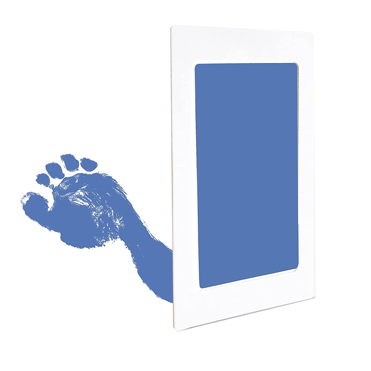 Clean Touch Ink Pad for Baby Handprints and Footprints – Inkless Infant Hand & Foot Stamp – Safe for Babies, Doesn't Touch Skin – Perfect Family Memory or Gift – Blue Print Kit by Tiny Gifts