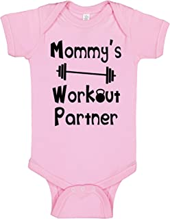 Reaxion Aiden's Corner - Handmade Funny Baby Boy & Girl Clothes - Mommy's or Daddy's Workout Partner Bodysuits