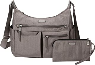 Baggallini Anywhere Large Hobo with RFID Phone Wristlet (Sterling Shimmer)