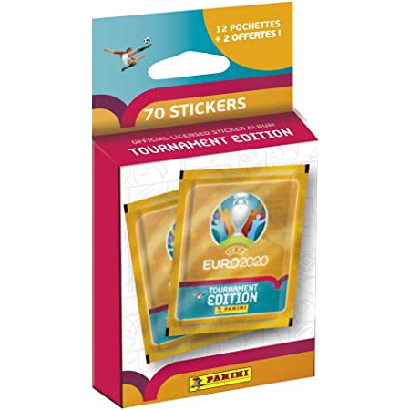 Panini France SA La Collection Officielle de Stickers UEFA Euro 2020 Tournament Edition - Blister de 12 Pochettes + 2 OFFERTES