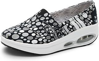 Zapatillas góticas para Mujer Sin Cordones Lienzo Sneakers Punk Cómodo y liviano Tendencia Moda 35-40(Recomendar tamaño un...