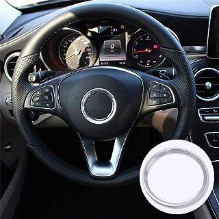 Aleación de aluminio cromo anillo del volante decoración cubierta de ajuste para CLA GLE GLC A B C