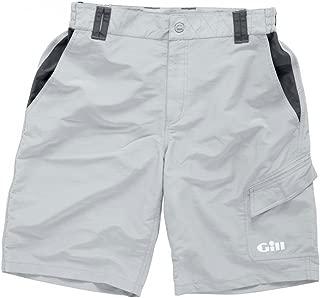 Gill Men's Performance Nylon Sailing Shorts, Silver, Medium