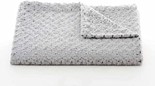 Tourance Luxury Throw Regular Size Rosebud Duotone Silver & Charcoal