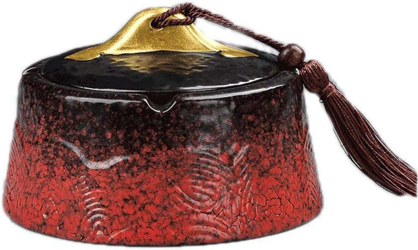 Max 79% OFF TEAYASON Ceramic Ashtray with Lids Household Indoor Free shipping / New Outdoor and