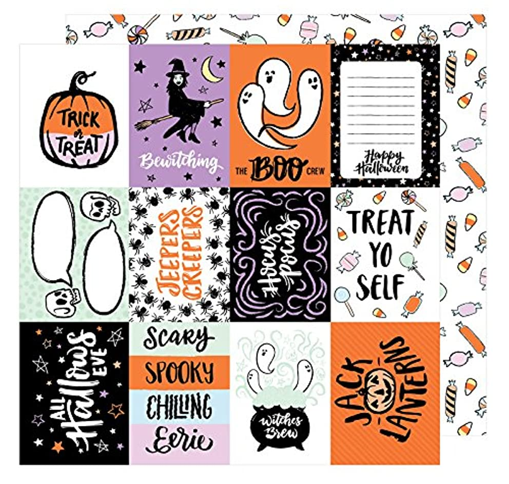American Crafts BOOtiful Night 25 Pack of 12 x 12 Inch Paper Bewitched, Piece