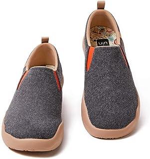UIN Cuenca Hombres Zapatos de Senderismo de Piel Serraje Blanca para Hombre Zapatillas de Charol Pintado Zapatillas de Mod...