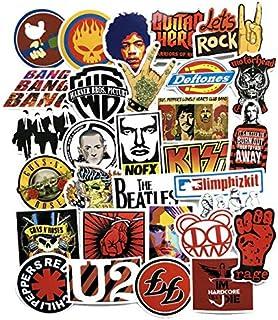 52 قطعة من ملصقات الجرافيتي بنمط الهيب هوب والروك اند رول الامريكي والاوروبي لحقائب السفر والجيتار