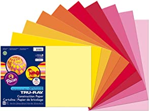 Tru-Ray Heavyweight Construction Paper, Warm Assorted Colors,12