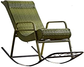 Lazy Getaway Rocking Chair Rocking Chair,Natural Rattan Chair, Stylish Lounge Chair Back Rocker Outdoor Balcony Lazy Chair...
