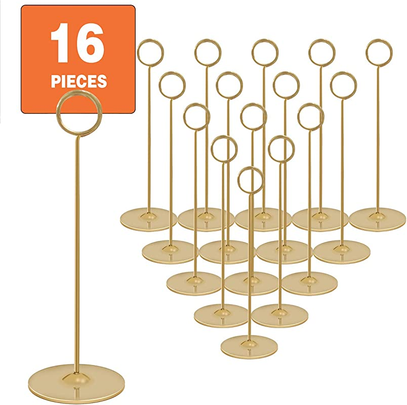 Urban Deco Place Card Holder Table Number Holder Wedding Card Holder 12 Inch Set Of 16 For Restaurants Weddings Banquets 12 Gold Place Card Holder