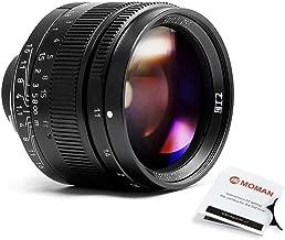 7artisans 50mm F1.1 Full Frame Large Aperture Rangefinder Focus Prime Fixed Lens for Leica M Mount Mirrorless Cameras