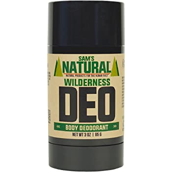 Sam's Natural Deodorant - Aluminum Free - No phthalates, parabens, sulfates, or dyes - Made in New Hampshire - For Men, Women, Unisex - Vegan, Cruelty Free - 3 oz - Wilderness