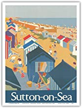 Sutton-on-Sea - Lincolnshire, England - London & North Eastern Railway - Vintage Railroad Travel Poster by Tony Castle c.1968 - Master Art Print 9in x 12in