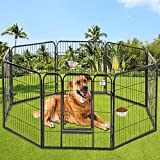 Pet Dog Playpen 8 Panel Protable Foldable Indoor Outdoor Cat Puppy Exercise Pen with Door 40' Animal Wire Yard Heavy Duty Metal Dog Fence Crate Kennel for Small Medium Large Dogs