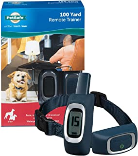 PetSafe 100 Yard Remote Trainer, Rechargeable, Waterproof, Tone/Vibration/15 Levels of Static Stimulation for dogs over 8 lb.