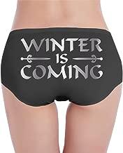 Winter Is Coming Platinum Style Women's Cotton Panties Black