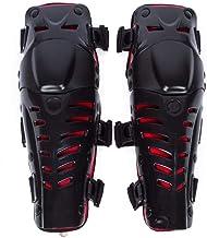 Adultos Rodilleras Moto Espinillera Motocross Protección de Rodilla Motocross Corporal Protector Rodilla Motocicleta Bicicleta Rodilleras para Protector Caballero al Aire Libre (Rojo Guapo)