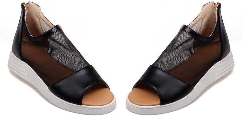 Mode Witte Sandalen Peep Toe Rits Schoenen Flip-Flop Sandalen Platte Casual Vrouw Schoenen