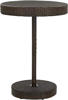 Tidyard Table de Jardin, Table Haute de Bar, Table de Bistrot, Table à Café Table à thé Marron 75,5x106 cm Résine tressée