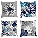 COLORPAPA Blue Pillow Covers 18x18...