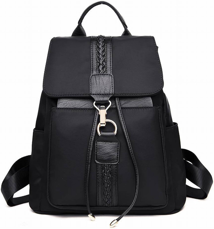 YTTY Umhngetasche Weiblichen Studenten Rucksack Oxford Frauen Schulter Diagonal Paket mit Hoher Kapazitt Tasche, schwarz