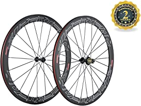 Superteam Road Bike Carbon Wheelset 50mm Clincher Wheel with Ceramic Bearing Hub