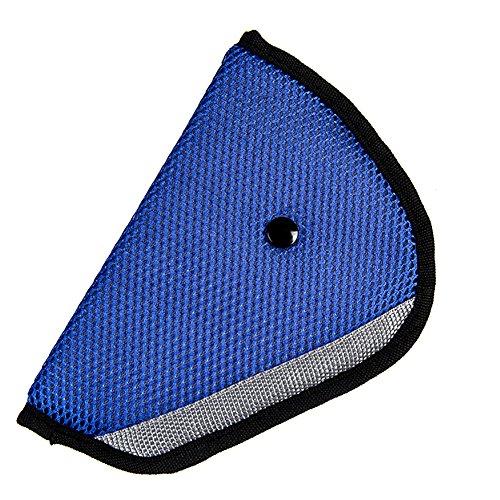 Demarlt Kinder Sicherheitsgurt Teller Dreieck Kindersitz Gürtelhalter Auto Kind Sicherheit Sitz Fixer Schutz für Kinder Auto Sicherheitsgurt Auto Car Safety Seat Belt Adjuster Blau