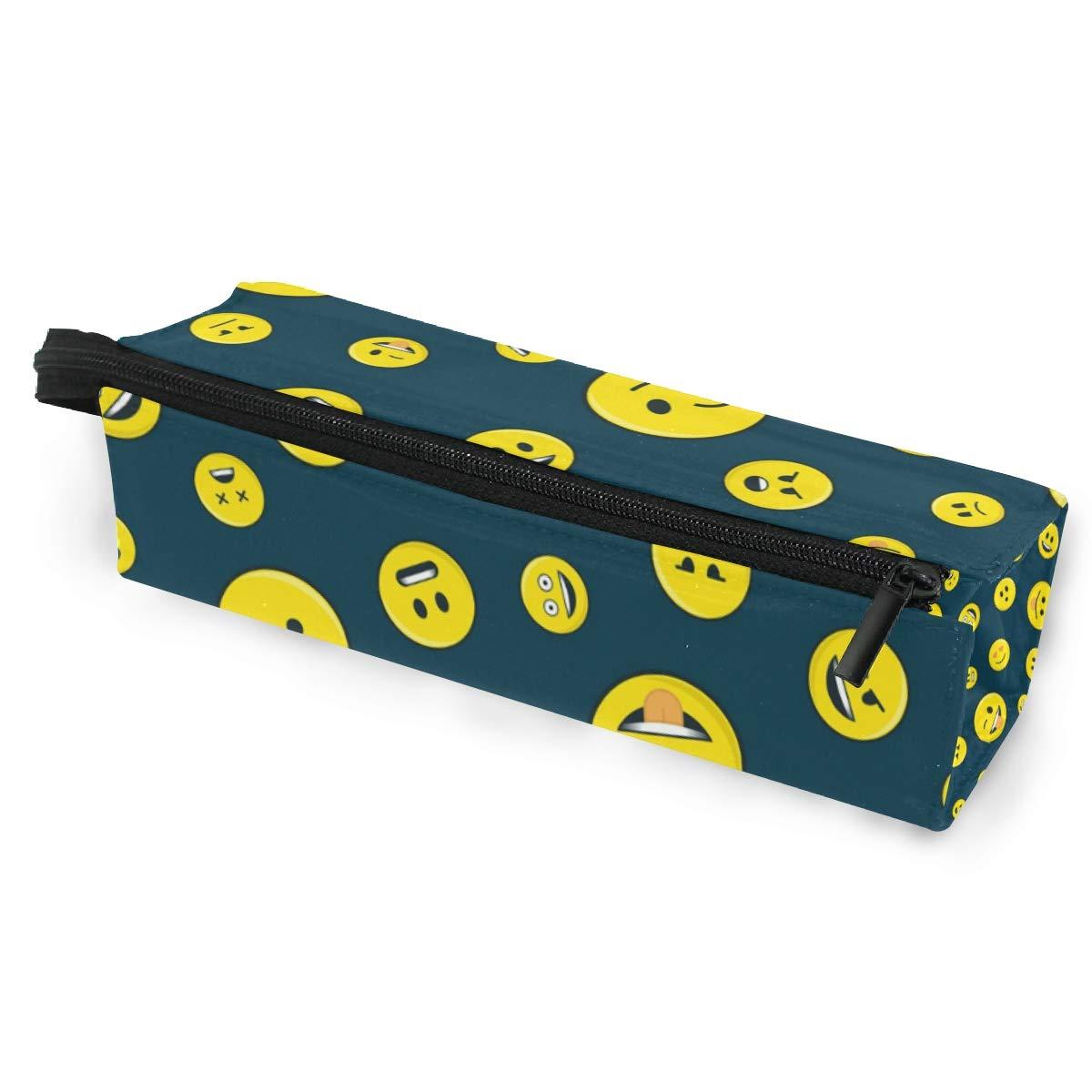 Estuche bolsa de lápiz Gafas de sol Cara divertida Emoji Happy Time Cosmética Estudiantes Papelería Bolsa Cremallera para niñas Niños: Amazon.es: Oficina y papelería