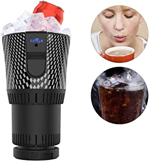 2 in 1 Smart Car Cup Heater And Cooler Beer Mug 12V3A Electric Coffee Heater Car Travel Beverage Cooling And Heating Cup