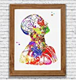 Human Head And Torso Anatomy Watercolor Poster Art Print Head Neck and Shoulder Medical Office Decor Medical Decor Clinic Decor Art