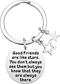 for Women - Good Friends are Like Stars Friendship Keychain Gift, Best Friend Teens, Birthday Gifts for Best Friend BFF Je...
