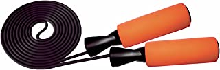 Jump Ropes with Adjustable & Comfortable Handles, Jumping Rope for MMA Cross Fitness Training, Boxing and Exercise Fully Adjustable to Fit Men, Women and Children-Orange