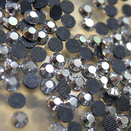 100 Gros Strass S20 hotfix Ø 5mm Bling Couleur n°209 Hematite Chrome