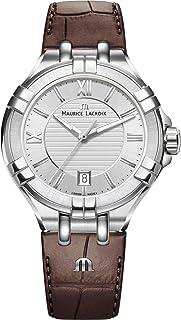 Maurice Lacroix - Reloj Analógico para Hombre de Cuarzo con Correa en Cuero AI1008-SS001-130-1