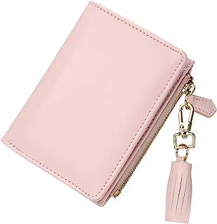 GEEAD Small Wallets for Women Bifold Slim Coin Purse Zipper ID Card Holder